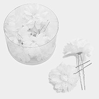12 PCS - Mini lace flower hair comb sticks