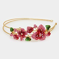 Crystal flower vine headband