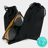 12PCS - ANTI DUST EYEWEAR GLASSES STORAGE BAG POUCH CASE