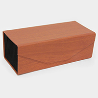 Foldable wood effect eyewear case