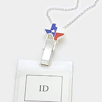 Texas state American flag ID holder