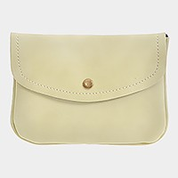 Mini faux leather back pocket cross body bag