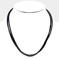 Triple strand cord necklace