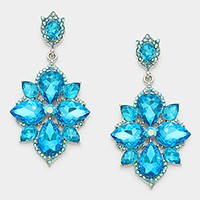 Crystal Rhinestone Statement Evening Earrings