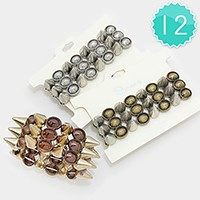 12 PCS - Metal stud stretch bracelets