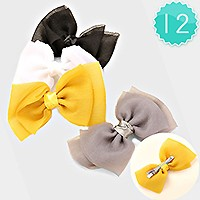 12 PCS - Bow hair barrette pinces