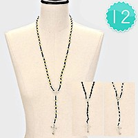 12 PCS - Cross pendant Y-necklaces