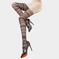 Multi horizontal stripes pantyhose tights