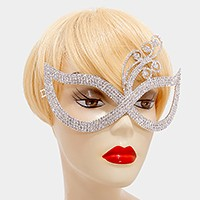 Filigree deco crystal rhinestone cat eye mask