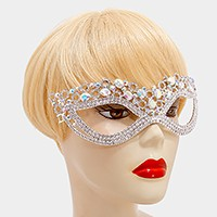 Crystal rhinestone bubble cat eye mask