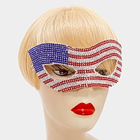 American flag crystal rhinestone cat eye mask