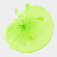 Ruffle Mesh Feather Fascinator