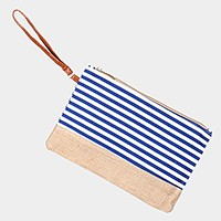 Striped beach whistles clutch bag