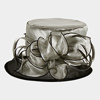 Flowing bow organza hat