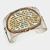 The Lord's Prayer _ hand made cuff bracelet