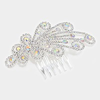 Crystal rhinestone hair comb stick