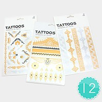12 Sets - Metallic tattoos