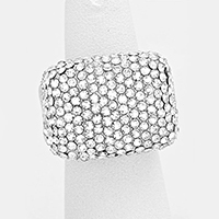 Rhinestone Pave Stretch Ring