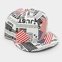 American flag newspaper baseball cap
