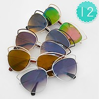 12 Pairs - Cat eye sunglasses