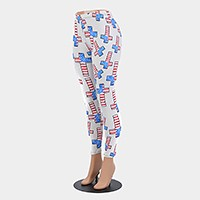 American flag cross pattern leggings