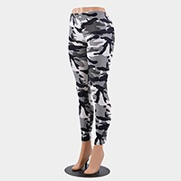 Camouflage military pattern leggings
