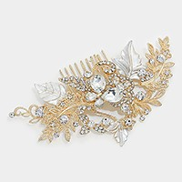Crystal rhinestone metal vine hair comb stick