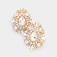 Crystal Teardrop Accented Evening Earrings