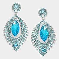Marquise crystal rhinestone flame evening earrings