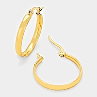 20 mm Hypoallergenic stainless steel metal hoop earrings
