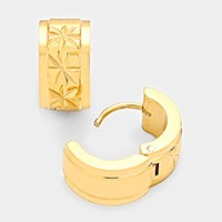 Hypoallergenic stainless steel metal huggie hoop earrings