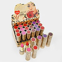 24 PCS - ASSORTED COLOR MATTE REPAIR LIP LIPSTICK WITH VITAMINS
