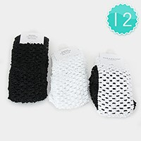 12 PCS - Crochet mesh headbands