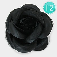 12 PCS - Flower hair barrette clips / hair bands / brooches