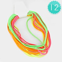 12 PCS - Solid stretch headbands