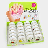 24 PCS - Cuticle oil nail polish remover pads