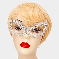 Crystal rhinestone vine cat eye mask