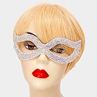 Crystal rhinestone cat eye mask