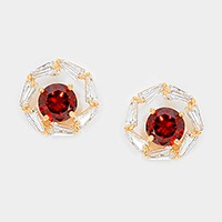 Art deco crystal cubic zirconia CZ stud earrings