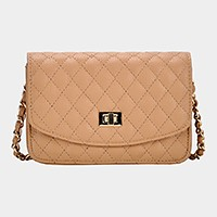 Faux leather Quilted Crossbody bag