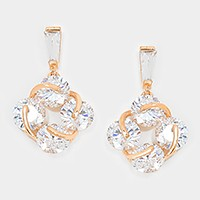 Crystal cubic zirconia CZ art deco earrings