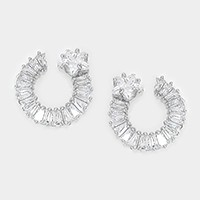 Crystal cubic zirconia CZ art deco star earrings