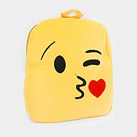 SMOOCH KISSING HEART EMOJI PLUSH KIDS BACKPACK
