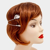 Crystal rhinestone flower back headband