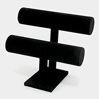 Bracelet / watch jewelry velvet T-bar display stand