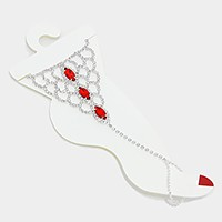 Crystal rhinestone marquise scale anklet