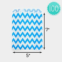 100 PCS - Chevron pattern paper jewelry bags