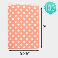 100 PCS - Polka dot paper jewelry bags