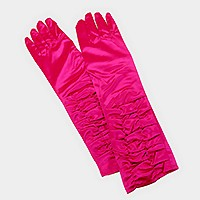 Dressy satin ruffle gloves