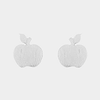 Metal apple stud earrings